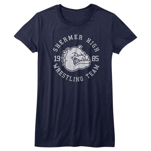 BREAKFAST CLUB-WRESTLING TEAM-NAVY HEATHER JUNIORS S/S TSHIRT