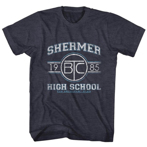 BREAKFAST CLUBHERMER HS-NAVY HEATHER ADULT S/S TSHIRT