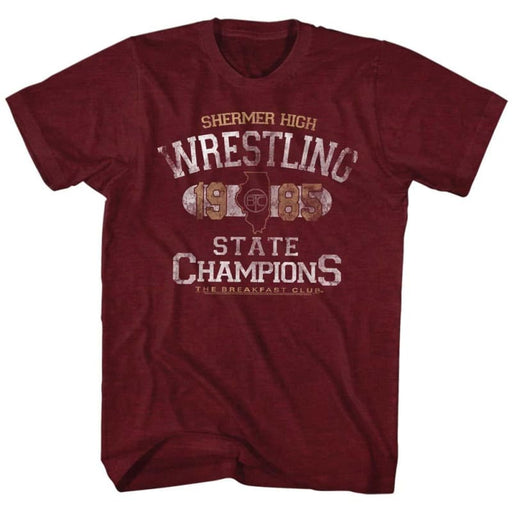 BREAKFAST CLUBTATE CHAMP-VINTAGE MAROON HEATHER ADULT S/S TSHIRT