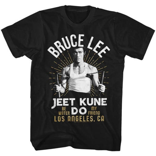 BRUCE LEE-WHITE GOLD-BLACK ADULT S/S TSHIRT