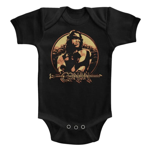 CONANHIELD-BLACK INFANT S/S BODYSUIT