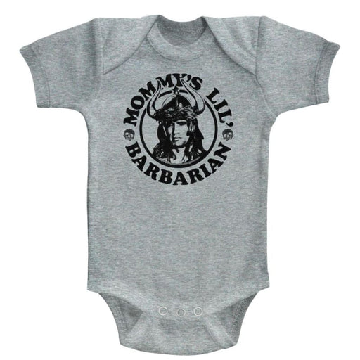 CONANOMMYS BARBARIAN-GRAY HEATHER NEWBORN S/S BODYSUITNB