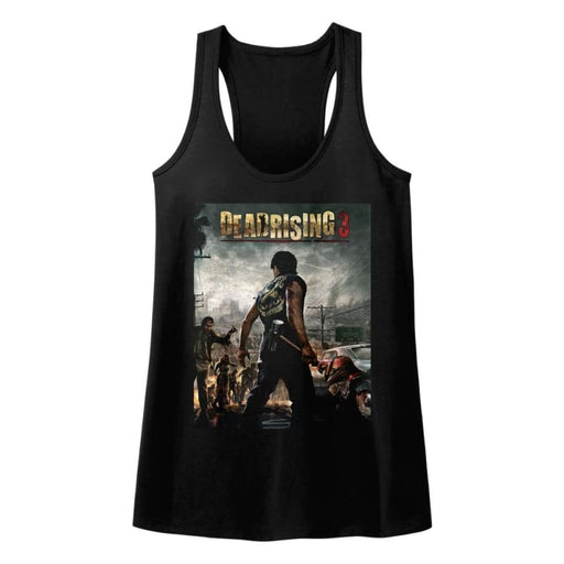 DEAD RISING-DEADRISING3-BLACK LADIES RACERBACK