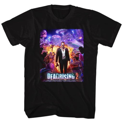 DEAD RISING-PURPLE ACTION-BLACK ADULT S/S TSHIRT