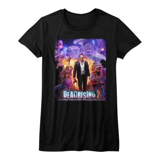 DEAD RISING-PURPLE ACTION-BLACK JUNIORS S/S TSHIRT