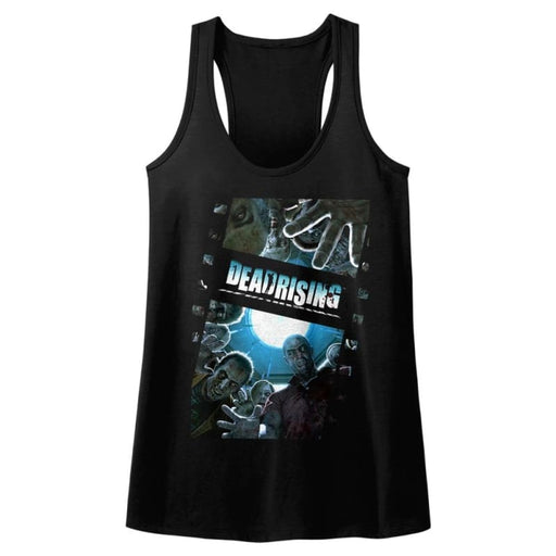 DEAD RISING-ZOMBIEFILM-BLACK LADIES RACERBACK