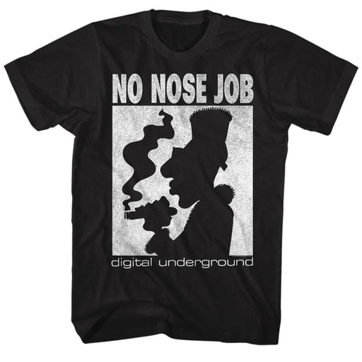 DIGITAL UNDERGROUND-NO NOSE JOB-BLACK ADULT S/S TSHIRT