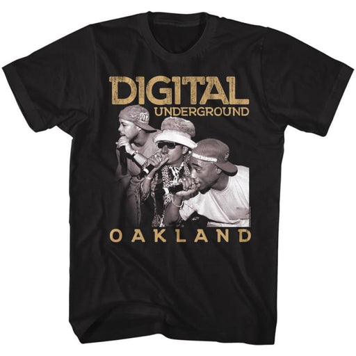 DIGITAL UNDERGROUND-OAKLAND-BLACK ADULT S/S TSHIRT