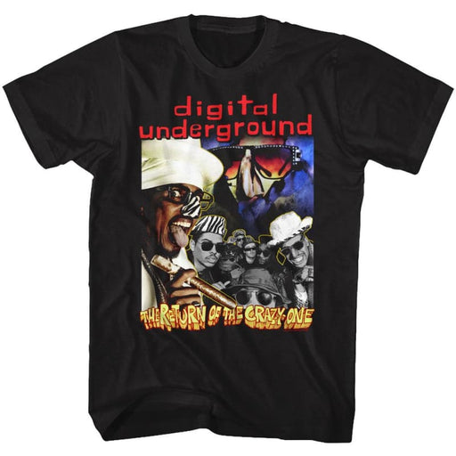 DIGITAL UNDERGROUND-THE RETURN-BLACK ADULT S/S TSHIRT