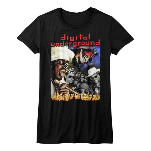 DIGITAL UNDERGROUND-THE RETURN-BLACK JUNIORS S/S TSHIRT