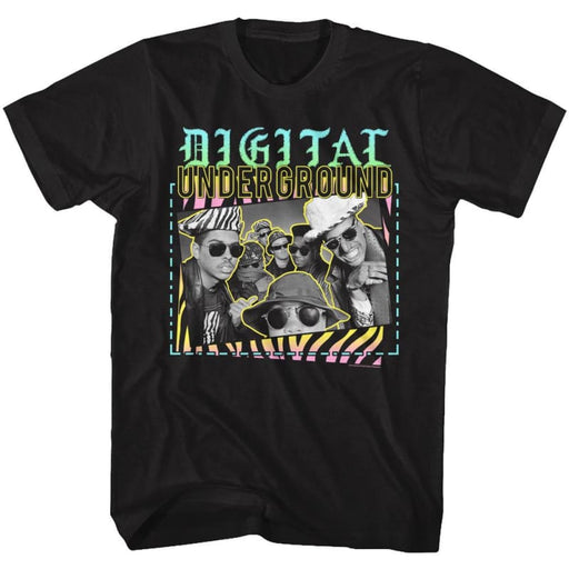 DIGITAL UNDERGROUND-VERY 90s-BLACK ADULT S/S TSHIRT