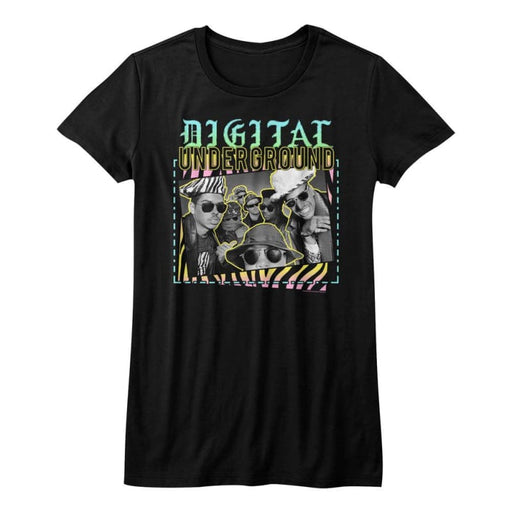 DIGITAL UNDERGROUND-VERY 90s-BLACK JUNIORS S/S TSHIRT