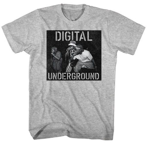 DIGITAL UNDERGROUNDIC ON STAGE-GRAY HEATHER ADULT S/S TSHIRT