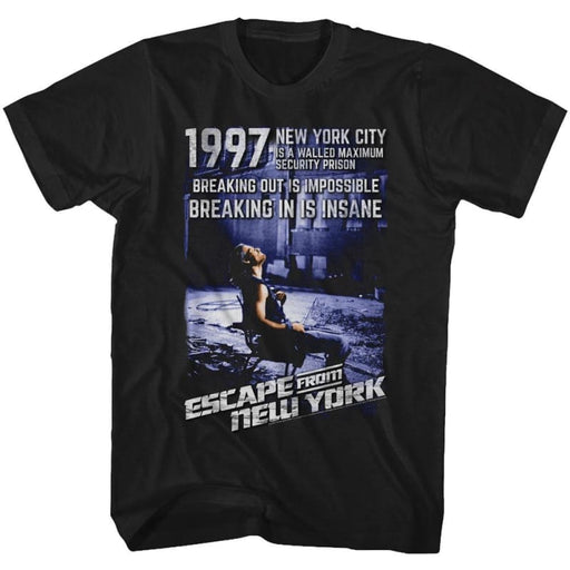 ESCAPE FROM NEW YORK-INSANE-BLACK ADULT S/S TSHIRT
