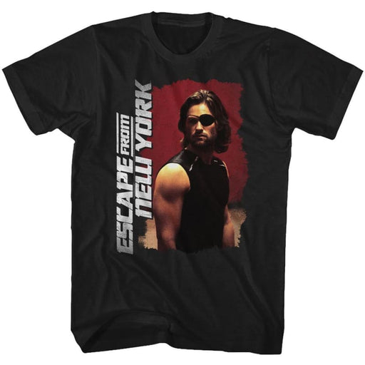 ESCAPE FROM NEW YORK-KURT RUSSEL POSE-BLACK ADULT S/S TSHIRT