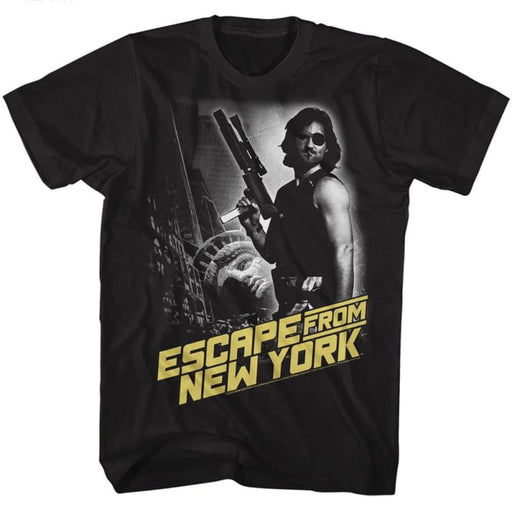 ESCAPE FROM NEW YORK-ESCAPE NY-BLACK ADULT S/S TSHIRT