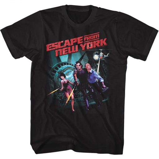 ESCAPE FROM NEW YORK-RUNNING ESCAPE-BLACK ADULT S/S TSHIRT