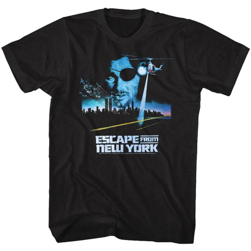 ESCAPE FROM NEW YORK-VINTAGE POSTER-BLACK ADULT S/S TSHIRT