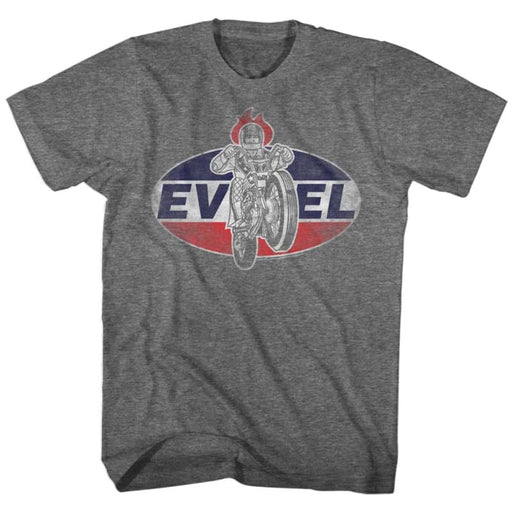 EVEL KNIEVELOGO 2-GRAPHITE HEATHER ADULT S/S TSHIRT