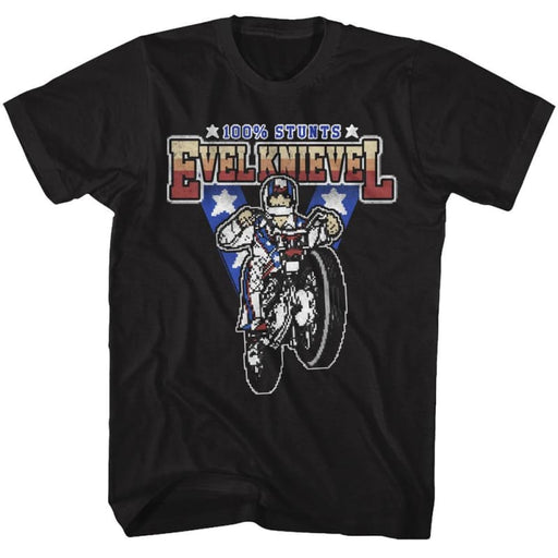 EVEL KNIEVELTUNTS100-BLACK ADULT S/S TSHIRT