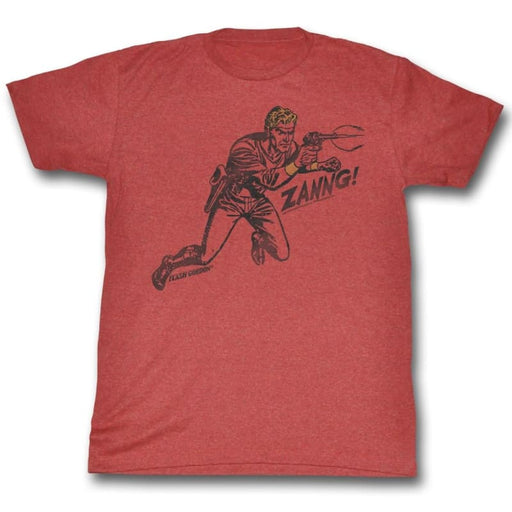 FLASH GORDON-ZANNG-RED HEATHER ADULT S/S TSHIRT