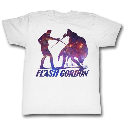 FLASH GORDONILHOUPHITE-WHITE ADULT S/S TSHIRT