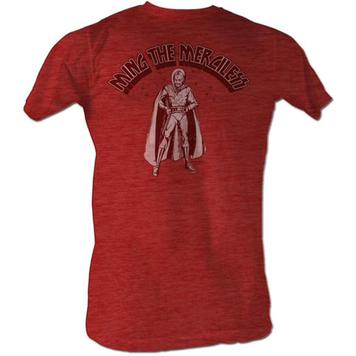 FLASH GORDONINGIN-RED HEATHER ADULT S/S TSHIRT