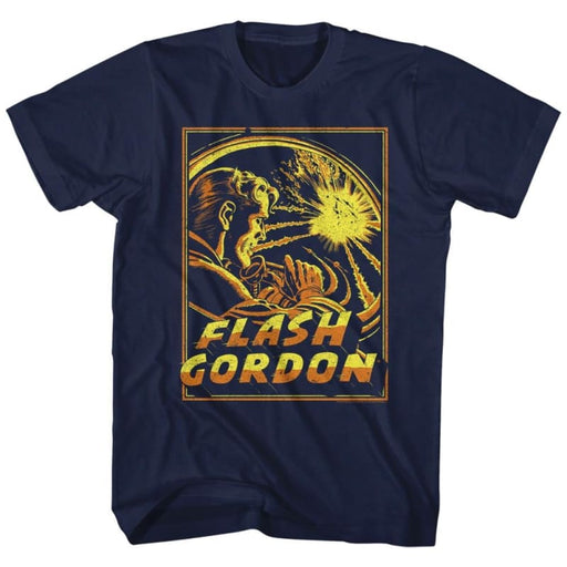 FLASH GORDONPACE EXPLOSION-NAVY ADULT S/S TSHIRT