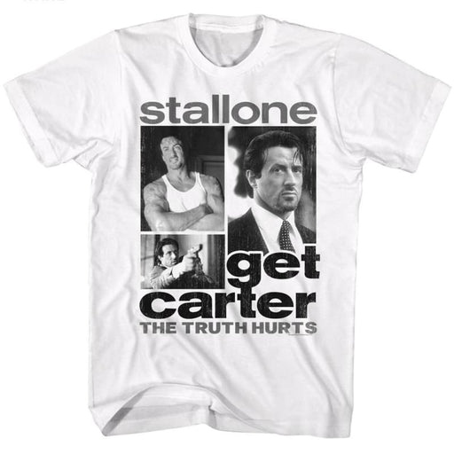 GET CARTER-GET COLLAGE-WHITE ADULT S/S TSHIRT