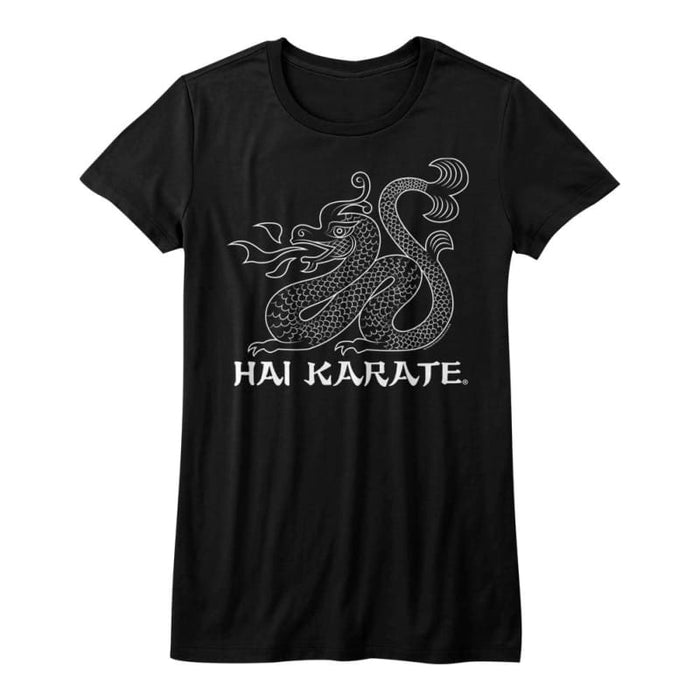 HAI KARATE-HK DRAGON-BLACK JUNIORS S/S TSHIRT