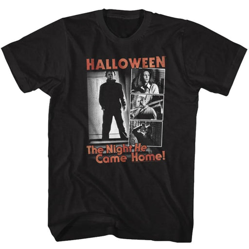 HALLOWEEN-THE NIGHT-BLACK ADULT S/S TSHIRT