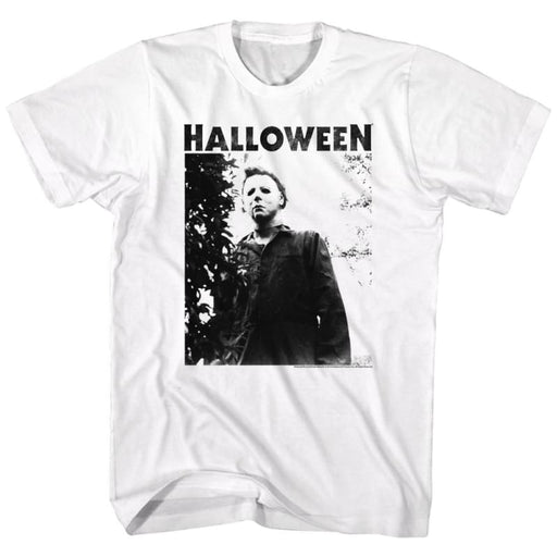 HALLOWEEN-WATCHING BIG TITLE-WHITE ADULT S/S TSHIRT