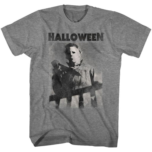 HALLOWEENIKEFADE-GRAPHITE HEATHER ADULT S/S TSHIRT