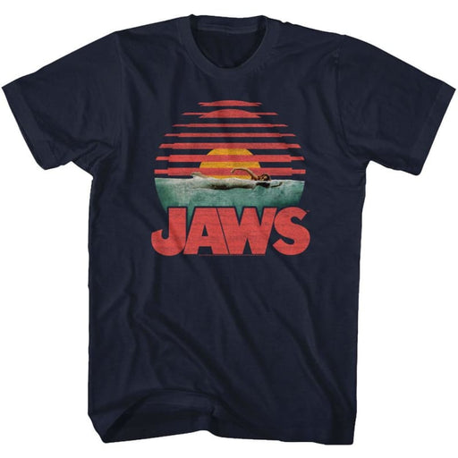 JAWSLICED-NAVY ADULT S/S TSHIRT