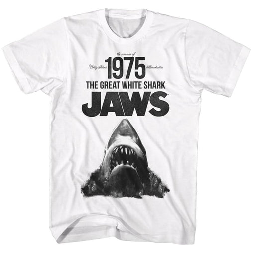 JAWSUMMER OF 75-WHITE ADULT S/S TSHIRT