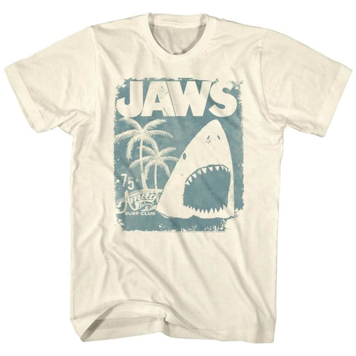 JAWSURF CLUB POSTER-NATURAL ADULT S/S TSHIRT