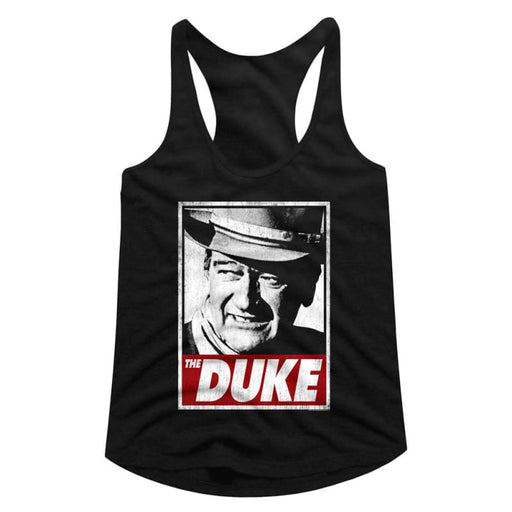 JOHN WAYNE-THA DUKE-BLACK LADIES RACERBACK
