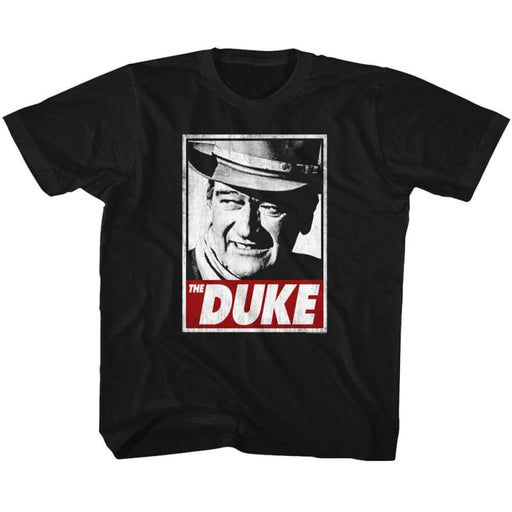 JOHN WAYNE-THA DUKE-BLACK TODDLER S/S TSHIRT