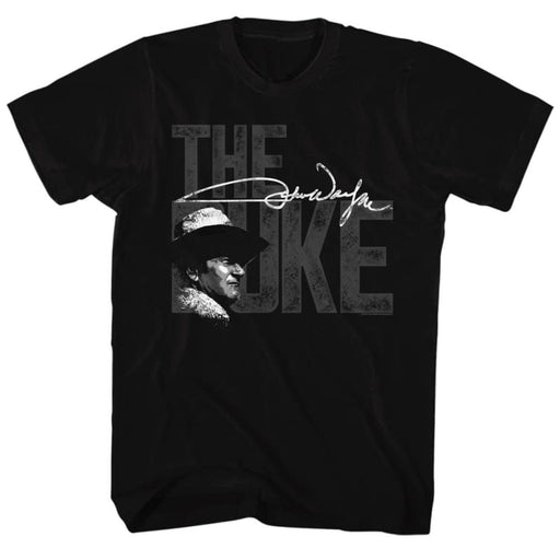 JOHN WAYNE-THE BIG DUKE-BLACK ADULT S/S TSHIRT