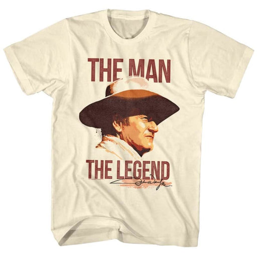 JOHN WAYNEAN/LEGEND-NATURAL ADULT S/S TSHIRT