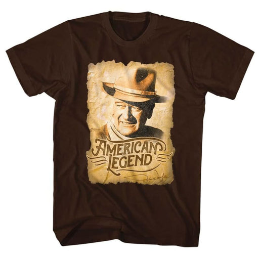 JOHN WAYNEEGEND-DARK CHOCOLATE ADULT S/S TSHIRT