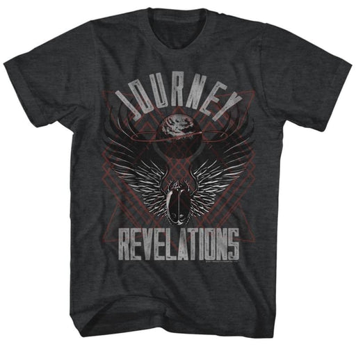JOURNEY-REVELATIONS-BLACK HEATHER ADULT S/S TSHIRT