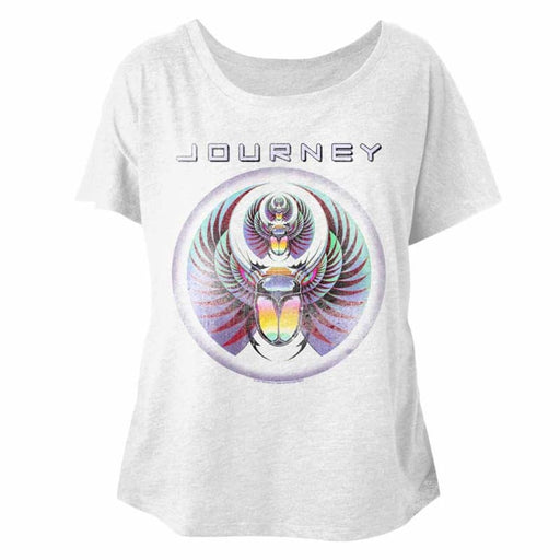 JOURNEY-JOURNEY-WHITE HEATHER LADIES S/S DOLMAN
