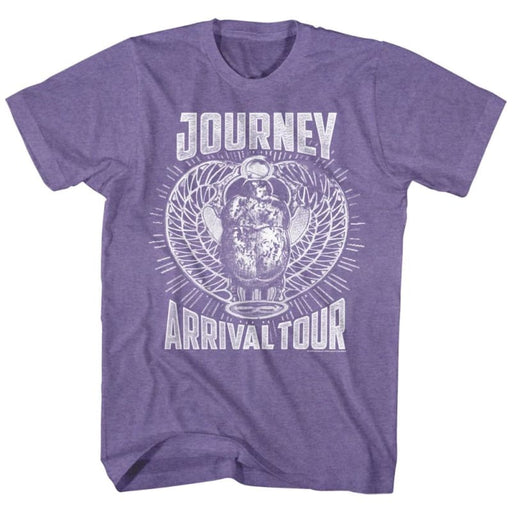 JOURNEYONOCHROME ARRIVAL-RETRO PURPLE HEATHER ADULT S/S TSHIRT