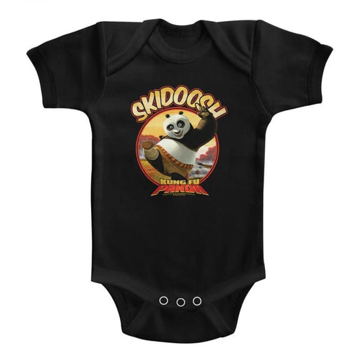 KUNG FU PANDAKIDOOSH-BLACK INFANT S/S BODYSUIT