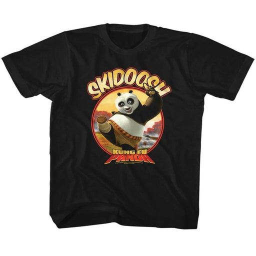 KUNG FU PANDAKIDOOSH-BLACK TODDLER S/S TSHIRT