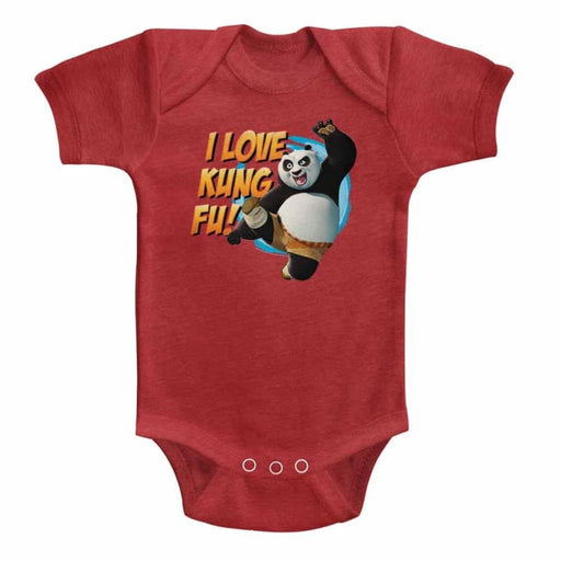KUNG FU PANDAOVE KUNG FU-VINTAGE RED INFANT S/S HEATHER BODYSUIT