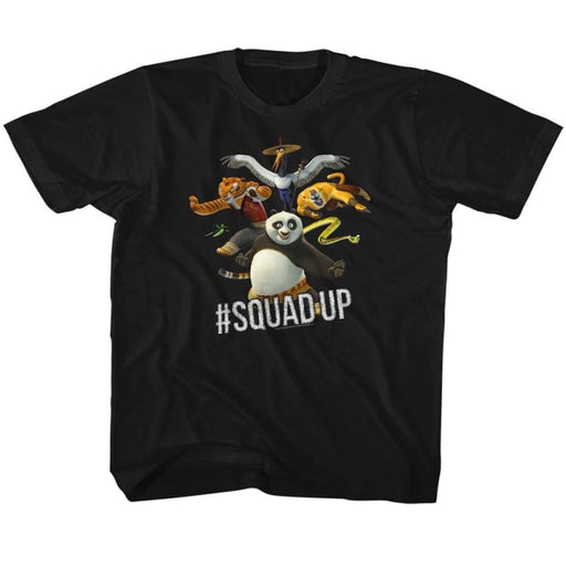 KUNG FU PANDAQUAD UP-BLACK YOUTH S/S TSHIRT