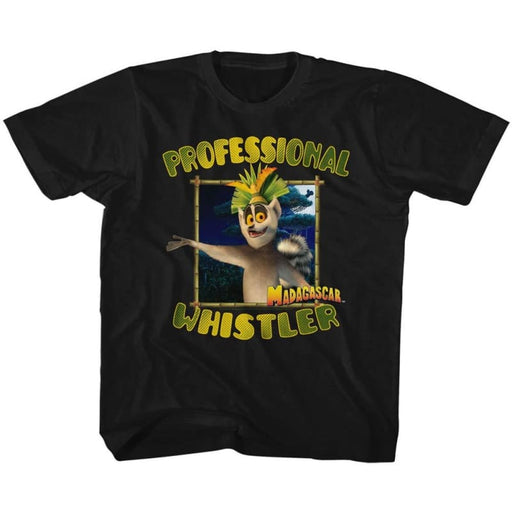 MADAGASCAR-PROFESSIONAL WHISTLER-BLACK YOUTH S/S TSHIRT