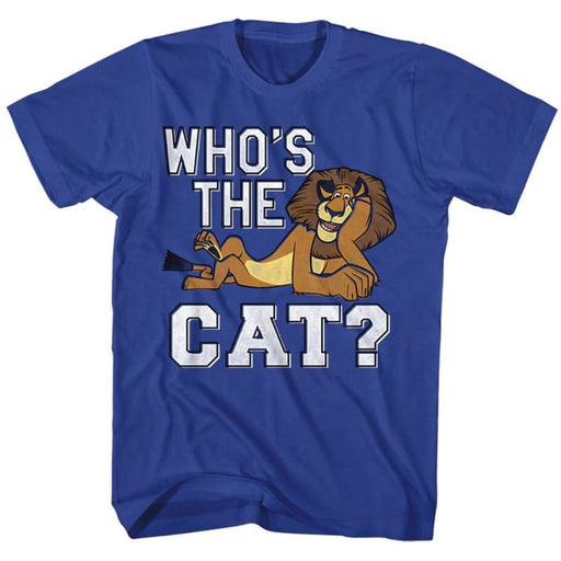 MADAGASCAR-THE CAT-ROYAL ADULT S/S TSHIRT